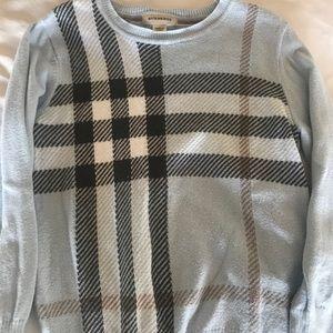 Toddler boys Burberry plaid sweater